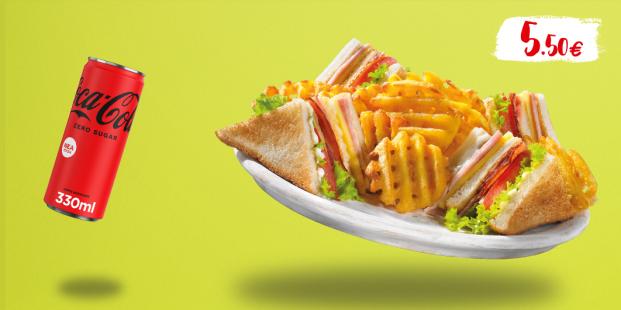Club Sandwich & αναψυκτικό 330ml με 5.50€