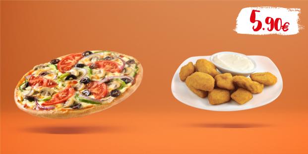 Απόλαυσε πίτσα piccola 6τμχ. & μερίδα κοτομπουκιές με 5.90€!
